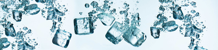 Splashback stänkskydd - ICE CUBES