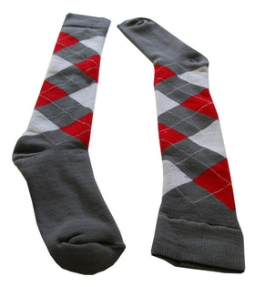 Argyle Red Grey