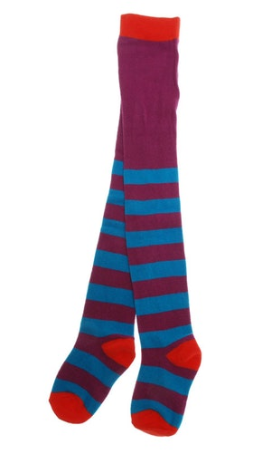 Strumpbyxor barn - Stripe lila blå