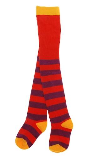 Strumpbyxor Barn Stripe Röda Lila