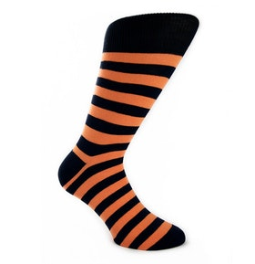 Stripe Orange Dark Blue