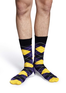 Argyle Yellow Purple