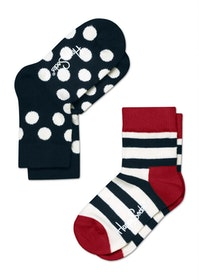 Kids Stripes Dots Black White Red