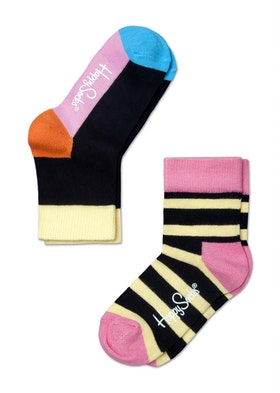 Kids Stripes Yellow Black Pink