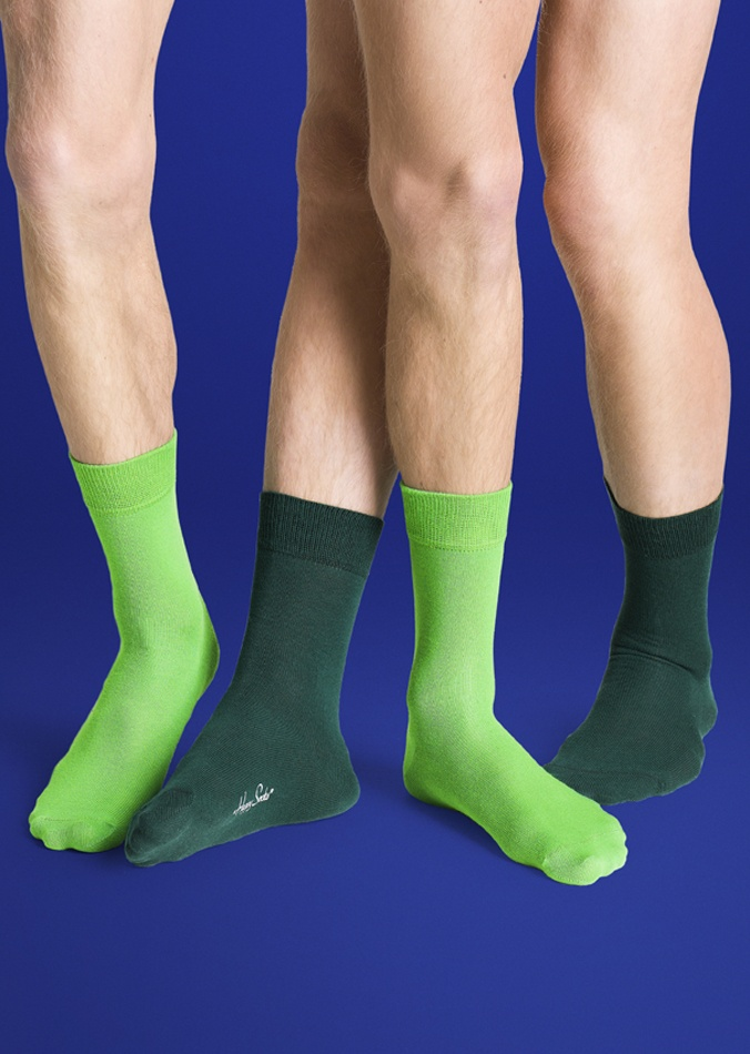 2 Pack One Colour Socks
