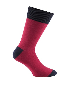 Navy Sock Fuxia