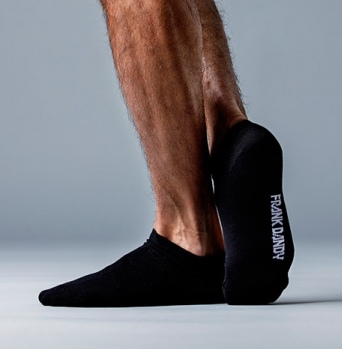 Bamboo Black Ankle Socks