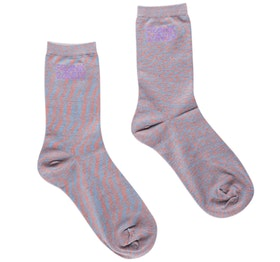Bamboo Socks Solid Space Coral