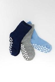 3-pack Sockiplast Blue Grey Marin
