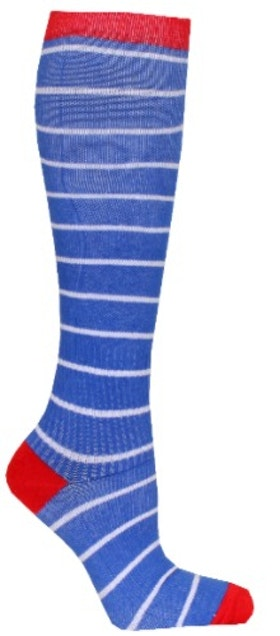 Compression Blue White Stripes