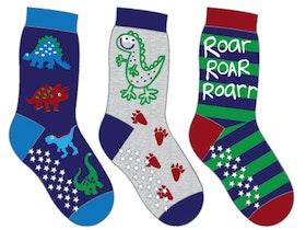 3-PACK Sockiplast Dinosaur Socks
