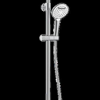 Duschsystem med termostat och tallrik