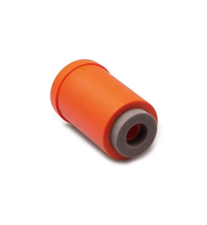 Skyddsburk i orange plast