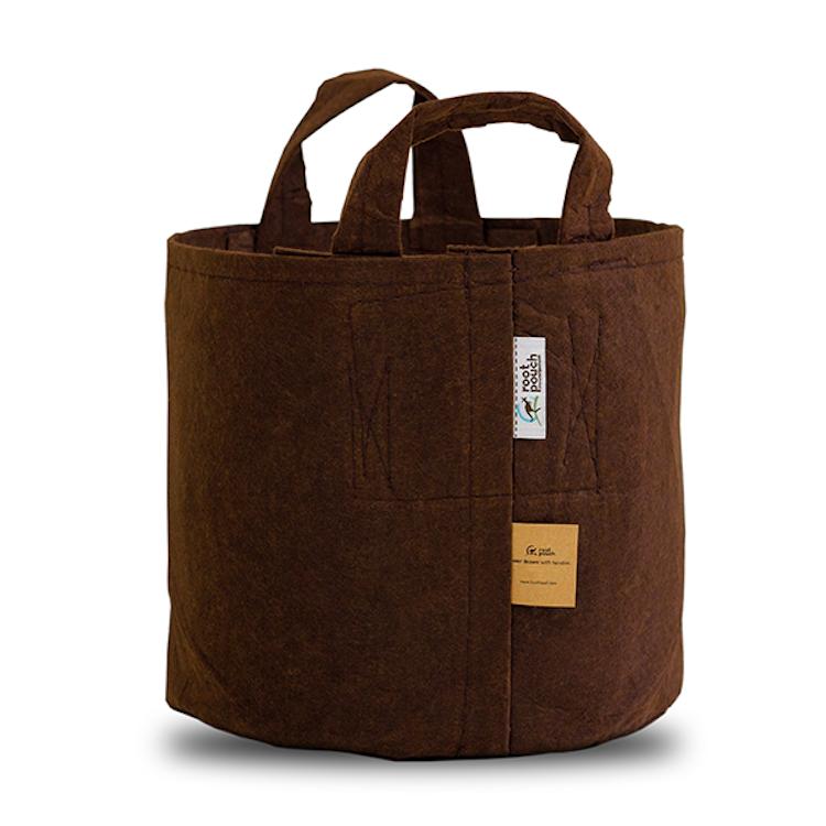 Odlingssäck Root Pouch - 56 liter brun med handtag