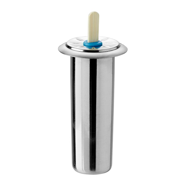 Runda glassformar i rostfritt stål - 6 st med ställning