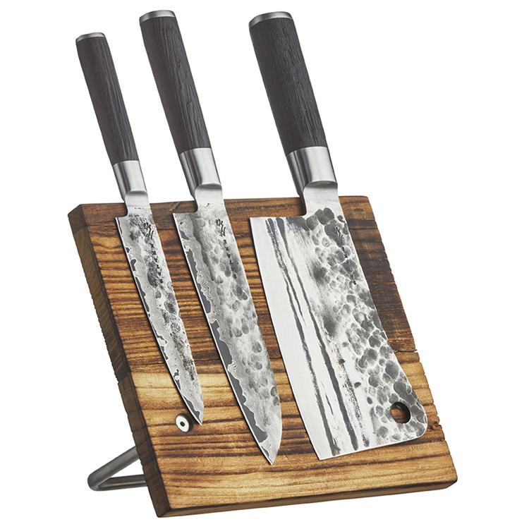 Satake Kuro knivset 3 delar inkl. knivställ