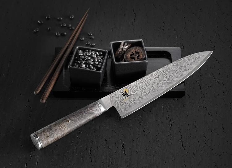 Miyabi Black 5000MCD Kockkniv 20 cm Maple