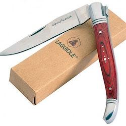 Laguiole fällbara grillknivar 10pack i olika färger ink. väska