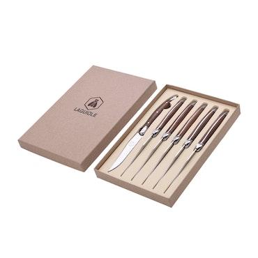 Laguiole bbq knives 6-pack Walnut