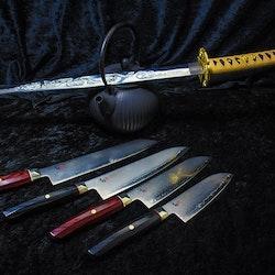 Mcusta Zanmai Revolution Kockkniv 21 cm Röd