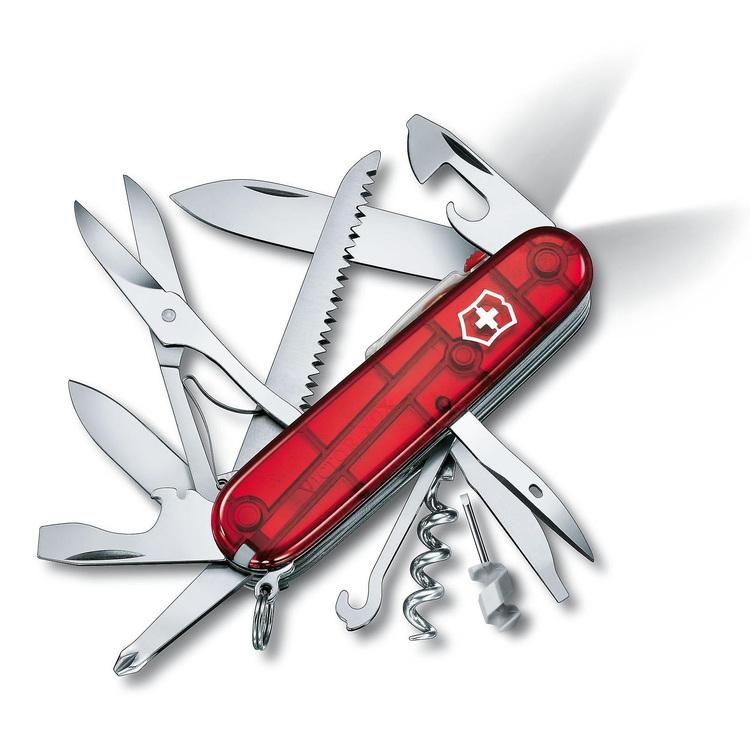 Victorinox Huntsman Lite Fickkniv röd transparent