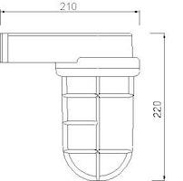 Marin Gallerlampa krom 2430B