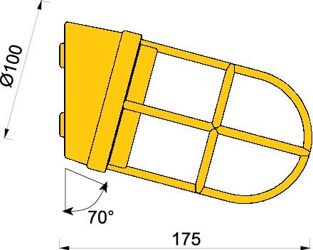 Gallerlampa krom 2297