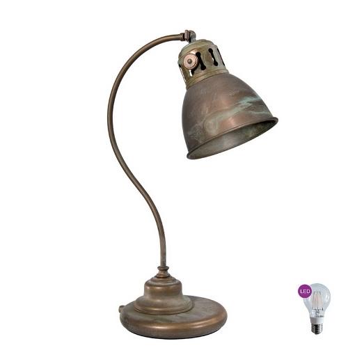 3014.AR Grönpatinerad bordlampa