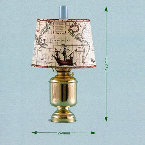 Bordlampa rund sjökort - 8816ZR