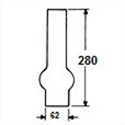 Brännarglas LG62280