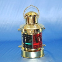 8404  6'' 2 färgad lanterna mässing