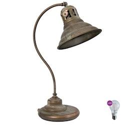 3054.AR Grönpatinerad bordlampa