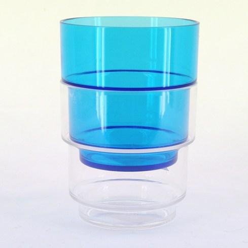 Plastglas travbar klar/blå 3:00st