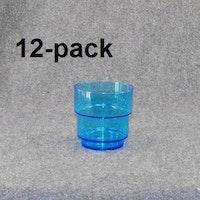 Plastglas travbar klar/blå 12st 18:-(1:50st)