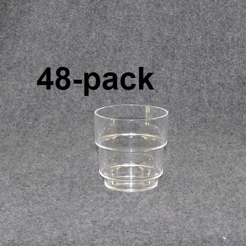 Plastglas travbar klar/blå 48st 48:-(1:00st)