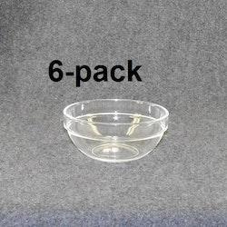 Plock/frukostskål klar/blå 6st 12:-st (2:00st)