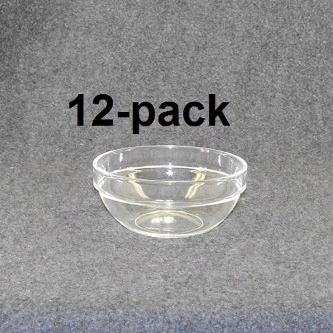 Plock/frukostskål klar/blå 12st 18:-st (1:50st)