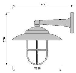 Marin Gallerlampa Mässing 2060