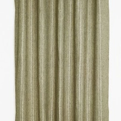 Gardinset med öljetter. Färg: Gula toner. Mått 2 x 140 x 240 cm.