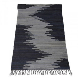 Trasmatta Sanne i grått och svart. mått 70 x 200 cm