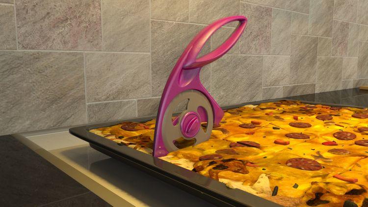 Sliceit by hackit en pizzaskärare/pizzahjul. Färg: Rosa.