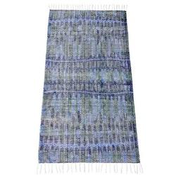 Matta Flöde 80 x 160 cm. Färg: Blå och grön.