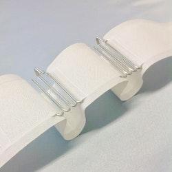 Veckband i 3,10 längder i bomull och polyester. Färg: Ecru som är en varmare vit ton och lite ljusare än den naturfärgade.