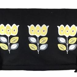REA! Knythissgardin Färg: Svart med gula och vita blommor.
