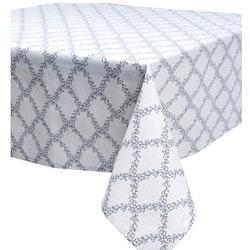 Filippa en bomullsduk i vitt och grått. Färg: Vit och grå. Mått: 90 x 90 cm.