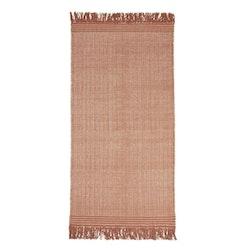Line en härlig bomullsmatta 70 x 200 cm. Art.nr 22959-380. Färg: Rost och natur.
