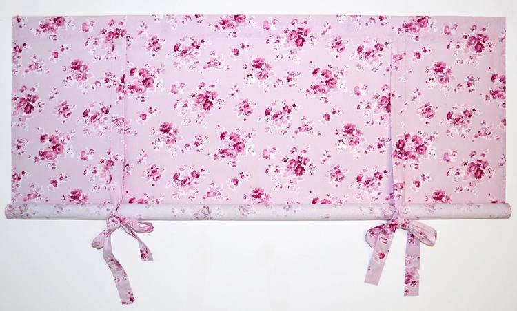REA! Knythissgardin bredd 120 cm. Färg: Rosa toner.