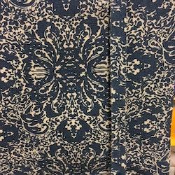 REA! Knythissgardin bredd 100 cm. Färg: Blå och natur.