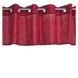Öljettkappa färdigsydd. Mått 250 x 45 cm. Material polyester.