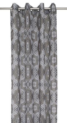 Gardinset med två öljettlängder. Mått 2 x 140 x 240 cm. Material polyester.